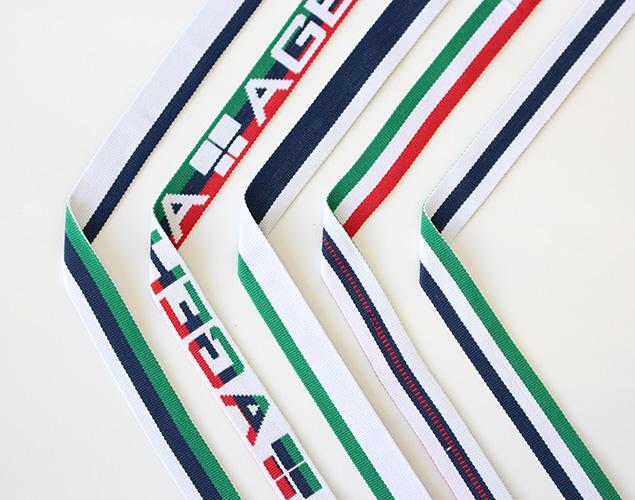 リバーシブル柄違いジャカード織りテープの商品画像